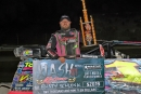 Ohio's Rusty Schlenk earned $2,019 for his 25-lap victory in Saturday's Kokomo Klash at the Indiana speedway. (Jim DenHamer)