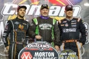 Winner Jimmy Owens is flanked by runner-up Ricky Weiss (left) and third-place Dale McDowell on Nov. 9 at Charlotte's Can-Am World Finals. (brentsmithphotography.com)