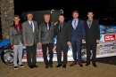 The Rocket house car team poses by the championship car on Nov. 10 at the Great Wolf Lodge in Concord, N.C., at the World of Outlaws Morton Buildings Late Model Series banquet. (Jim DenHamer)