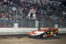 Ron Bartels takes the checkers at Antioch (Calif.) Speedway on June 25, 2005 for his first career Late Model victory. The $3,000 triumph came during a Dart Heads Western Dirt Late Model Tour event. (Dennis Daniel)