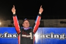 Ches Chester earned a $2,000 Fastrak Racing Series victory for Crate Late Models Nov. 22 at Screven Motor Speedway in Sylvania, Ga. (Richard Barnes)