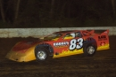 Scott Rhodes heads to victory at Allegany County in the 2002 Free State  40, a Renegade DirtCar Racing Series-sanctioned event.  (rickschwalliephotos.com)