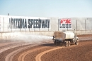 The surface at FK Rod Ends Arizona Speedway is prepared Jan. 10 before practice for the Keyser Manufacturing Wild West Shootout. (photofinishphotos.com)