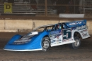Brandon Sheppard wheels toward a $5,000 victory in the Jan. 12 Keyser Manufacturing Wild West Shootout feature at FK Rod Ends Arizona Speedway. (mikerueferphotos.photoreflect.com)
