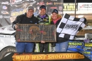 Brian Shirley reached Hoker Trucking victory lane for the second time Jan. 17 in Keyser Manufacturing Wild West Shootout fourth round action. (photofinishphotos.com)