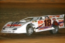 Tim Tungate of Campbellsville, Ky., heads to victory in Clarksville Stormpay.com Speedway's Toliet Bowl on March 18, 2006. It was Tungate's first appearance at the Tennessee bullring in 10 years. (Brian McLeod)