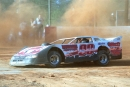 Billy Hicks gets up to speed at East Lincoln Motor Speedway in Stanley, N.C., before his March 24, 2002 Southern Outlaw Super Series victory. (Todd Turner)