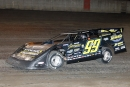 Frank Heckenast Jr. heads for a $5,000 MARS victory June 25 on the quarter-mile at Davenport (Iowa) Speedway. (mikerueferphotos.photoreflect.com)