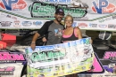 Mark Simon of Buffalo, Mo., won June 26's Dirt Track Bank Cash Money Super Dirt Series event at Dallas County Speedway in Urbana, Mo. (Justis Mooneyham)