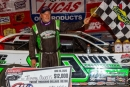 Jimmy Owens earned $12,000 on June 26 at 411 Motor Speedway in Seymour, Tenn., for his third straight Lucas Oil Late Model Dirt Series victory. (heathlawsonphotos.com)