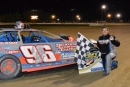 Derek Magee won June 27's Crate Late Model feature at Delaware International Speedway in Delmar. (Jamie Wilson/Landstone Sports Photography)