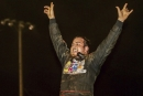 Drew Armstrong celebrates his first Late Model victory July 1 at I-30 Speedway in Little Rock, Ark., on the Comp Cams Super Dirt Series. (Millie Tanner)