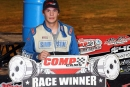 Spencer Hughes of Meridian, Miss., broke through Thursday at ArkLaTex Speedway for his first career Comp Cams Super Dirt Series triumph and a $4,000 payday. (scottscustomart.com)