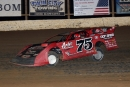 Terry Phillips of Springfield, Mo., races to a $4,000 victory on July 4 at Boothill Speedway in Greenwood, La. (scottscustomart.com)
