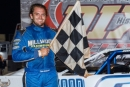 Tyler Millwood earned $3,000 in a Fourth of July Super Late Model special at Dixie Speedway in Woodstock, Ga. (praterphoto.com)