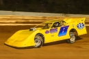 Matt Sponaugle led all the way July 31 at Bedford (Pa.) Speedway for his first career Zimmer's United Late Model Series victory. (Jason Walls/wrtspeedwerx.com)