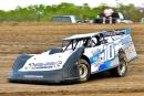 Brandon Brzozowski won Aug. 1's Late Model feature at I-37 Speedway in Pleasanton, Texas. (J.M. Hallas)