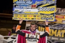 Matt Cosner shows off his big paycheck after his $3,000 Ultimate Northeast victory at Roaring Knob Motorsports Complex in Markleysburg, Pa. (Shawn Cooper/wrtspeedwerx.com)