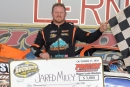 Jared Miley earned $3,000 for winning Saturday's DIRTcar Roundup Steel City Stampede at Lernerville Speedway. (Howie Balis)