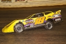 Jimmy Owens heads for a $15,000 victory at Volunteer Speedway in Michael Lloyd's Rocket Chassis. (Michael Boggs)