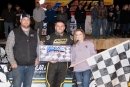 Camaron Marlar earned $5,000 for Nov. 14's Lake Cumberland Classic victory at Lake Cumberland Speedway in Burnside, Ky. (Ryan Roberts)