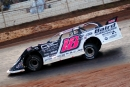 Michael Page of Douglasville, Ga., steers toward an unprecedented fifth straight Ice Bowl victory Sunday at Talladega Short Track. (Robert Holman/DirtonDirt.com)