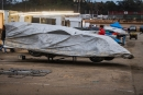 A covered Late Model before Jan. 15's rainout on the World of Outlaws Morton Buildings Late Model Series at Volusia Speedway Park in Barberville, Fla. (jacynorgaardphotography.com)