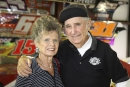 Berneice and Earl Baltes at the National Dirt Late Model Hall of Fame in 2008. Berneice died Feb. 24, 2021, at the age of 93. (mikerueferphotos.photoreflect.com)