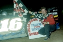 John Wyer of Zanesville, Ohio, in victory lane at Muskingum County Speedway following his first career Mid-Atlantic Championship Series victory on July 3, 1999. (Todd Turner)