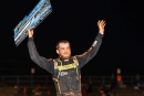 Josh Rice celebrates April 17's $5,000 Super Late Model victory at Florence Speedway in Union, Ky. (Michael Boggs)