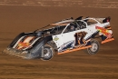 Tyler Evans heads to victory in the Steel Block Late Model Series-sanctioned Pat Herrick Memorial at Tyler County Speedway on Saturday, April 17, 2021. (Zach Yost)