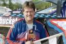 Mark Barber picked up a $2,000 victory at Scottsburg (Ind.) Speedway when the UMP Hoosier Late Model Series visited the Scott County Fairgrounds oval on April 22, 2001. (Todd Turner)
