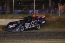 Wall-scraping Josh Rice led the final four laps May 1 at Florence Speedway for a $15,000 Ralph Latham Memorial victory, his first on the Lucas Oil Late Model Dirt Series. (Michael Boggs)
