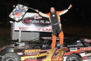 Brandon Eskew won May 1's Crate Late Model feature at Spoon River Speedway in Banner, Ill. (Joseph Putnam)