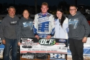 Blair Nothdurft's team celebrates May 16's Repairable Vehicles.com Tri-State Series victory at Raceway Park in Jefferson, S.D. (Jamie Borkowski)