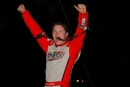 Bobby Pierce celebrates Sunday at Vermilion County Speedway in Danville, Ill., after his first career ALMS victory. (Jeremey Rhoades)