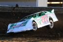 Walker Arthur had a rollover accident in World of Outlaws time trials Friday at NAPA Wayne County (Ohio) Speedway. He was unhurt. (Roy D. Walker)