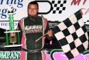 Rusty Schlenk notched his 16th career Sunoco American Late Model Series victory Friday at Mount Pleasant (Mich.) Speedway. (Steve Datema)