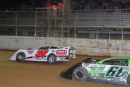 Jeff Miller Sr. (57) beat Justin Kann (66) on Aug. 16 at Port Royal (Pa.) Speedway, becoming the track's 12th Late Model winner in 12 races this season. (Brian Rhoad)