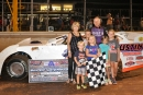 Ronnie Johnson enjoys victory lane Aug. 20 at Boyd's Speedway in Ringgold, Ga., after winning the National Boiler Service 50, the first leg of the Labor Day Triple Crown. (photobyconnie.com)