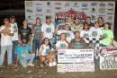 Supporters join Jackie Boggs in victory lane Aug. 30 after his Lucas Oil Late Model Dirt Series triumph at Portsmouth (Ohio) Raceway Park. (Tyler Carr)