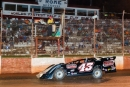 Tom Maddox takes the checkers for his $3,000 Rome Boss victory Aug. 31 at Rome (Ga.) Speedway. (praterphoto.com)