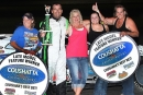 Chris Holley notched his 14th feature victory Aug. 30 at Battleground Speedway in Highlands, Texas. (ronskinnerphotos.com)
