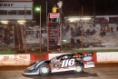 Randy Weaver takes the checkers and $3,000 after his flag-to-flag victory in Sept. 13's Fall Championships at Dixie Speedway in Woodstock, Ga. (praterphoto.com)
