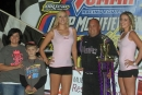 The soon-to-retire Randy Korte emerged victorious in the second round of the UMP DIRTcar Late Model portion of the Mod Madness weekend on Fri., Sept. 19, at Tri-City Speedway in Granite City, Ill. (Jimmy Dearing)