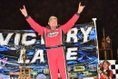Randy Weaver acknowledges the crowd after winning Saturday night's Southern All-Star Series King of the Mountain Fall Classic at Smoky Mountain Speedway in Maryville, Tenn. (Connie Putnam/photosbyconnie.com)
