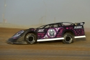 Scott Bloomquist at speed en route to winning Sunday's 34th annual Optima Batteries Dirt Track World Championship feature at Portsmouth (Ohio) Raceway Park. (rickschwalliephotos.com)
