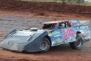 John Owenby zips around Winchester (Tenn.) Speedway, where he captured Oct. 25's Rebel 40 for a $3,000 payday. (Dana Bates)