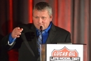 Don O'Neal addresses the Lucas Oil banquet crowd while receiving his first national touring championship Dec. 11 in Indianapolis. (rickschwalliephotos.com)