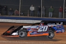 Rodney Sanders negotiating the 3/8-mile USA Raceway on his way to victory in Wednesday night's 30-lap Keyser Manufacturing Wild West Shootout feature. (photosbyshana.net)